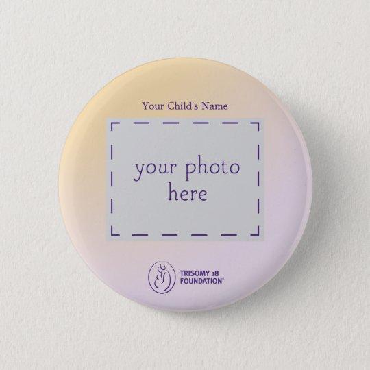 Trisomy 18 Foundation Personalized Button