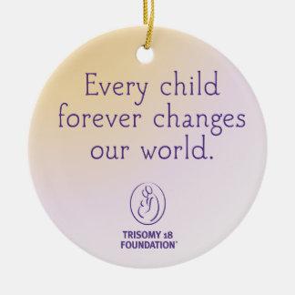 Trisomy 18 Foundation Personalized Ornament