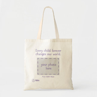 Trisomy 18 Foundation Personalized Tote Budget Tote Bag