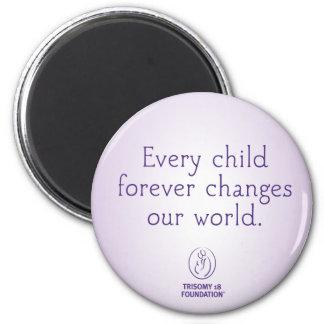 Trisomy 18 Foundation Quote Purple Magnet