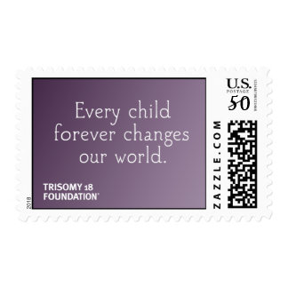 Trisomy 18 Foundation Quote - Purple Stamps