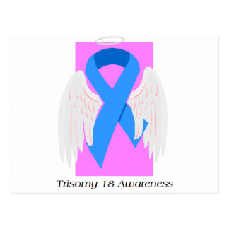 Trisomy 18 Girl Angel Postcard