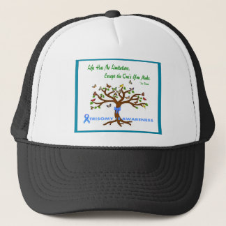Trisomy 18 Life Has No Exceptions Trucker Hat