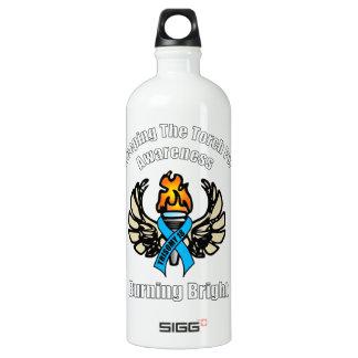 Trisomy 18 torch aluminum water bottle