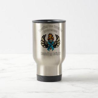 Trisomy 18 torch travel mug