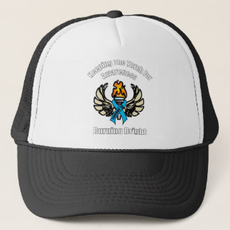 Trisomy 18 torch trucker hat