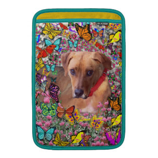Trista the Rescue Dog in Butterflies MacBook Sleeve