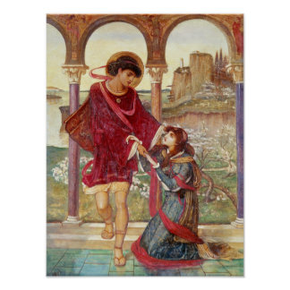 Tristan and Iseult, 1876 Poster