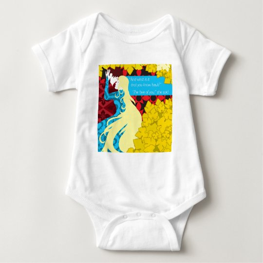 Tristan And Iseult gift with quote Baby Bodysuit