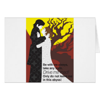 Tristan And Iseult gift with quote Card