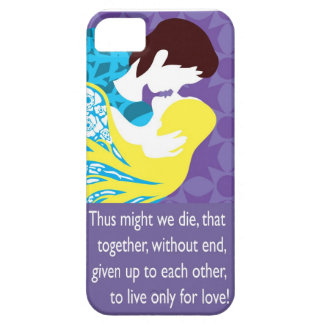Tristan And Iseult gift with quote iPhone 5 Cover