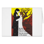 Tristan And Iseult gift with quote Greeting Card