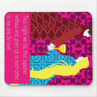 Tristan And Iseult gift with quote Mouse Pad