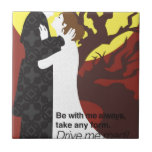 Tristan And Iseult gift with quote Tile