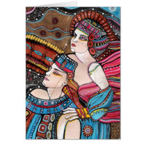 beloved, tristan, love, sky, couple, majestic, painting, romantic, inspirational, original, isolde, creative, eternal, loving, romance, portrait, heaven, story, artistic, forever, history, Card with custom graphic design