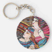 beloved, tristan, love, sky, couple, majestic, painting, romantic, inspirational, original, isolde, creative, eternal, loving, romance, portrait, heaven, story, artistic, forever, history, Keychain with custom graphic design