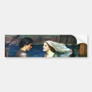 Tristan and Isolde by John William Waterhouse Bumper Sticker