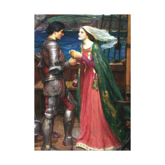 Tristan and Isolde by John William Waterhouse Canvas Print