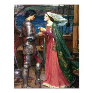 Tristan and Isolde by John William Waterhouse Card