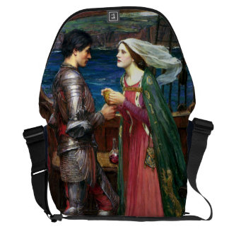 Tristan and Isolde by John William Waterhouse Courier Bag