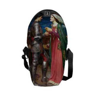 Tristan and Isolde by John William Waterhouse Messenger Bag