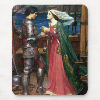 Tristan and Isolde by John William Waterhouse Mouse Pad