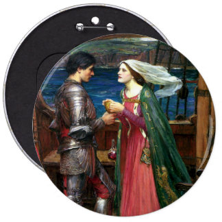 Tristan and Isolde by John William Waterhouse Pinback Button