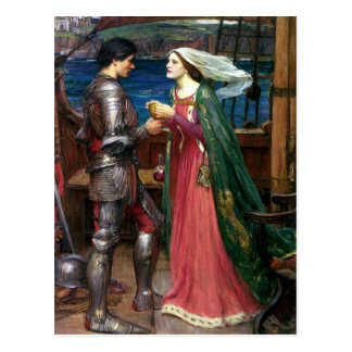 Tristan and Isolde by John William Waterhouse Postcards