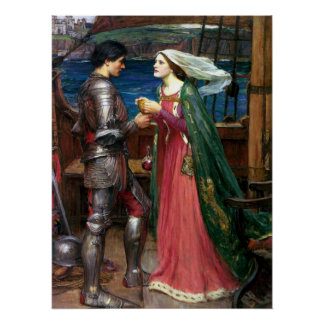 Tristan and Isolde by John William Waterhouse Poster