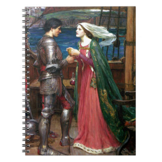Tristan and Isolde by John William Waterhouse Spiral Notebook