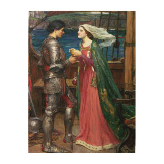 Tristan and Isolde by John William Waterhouse Wood Wall Art