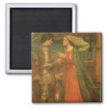 Tristan and Isolde by Waterhouse, Vintage Fine Art Fridge Magnet