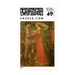 Tristan and Isolde by Waterhouse, Vintage Fine Art Stamps