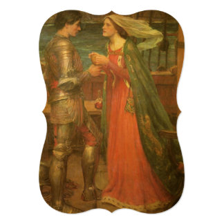 Tristan and Isolde by Waterhouse, Vintage Wedding Card