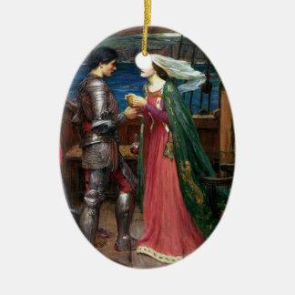 Tristan and Isolde Ceramic Ornament
