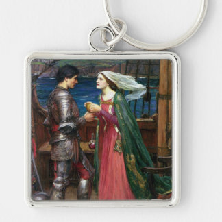 Tristan and Isolde Square Keychain