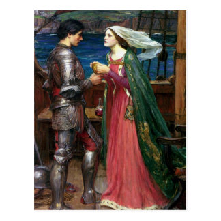 Tristan and Isolde with the Potion Postcard