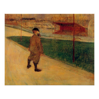 Tristan Bernard by Toulouse-Lautrec Poster