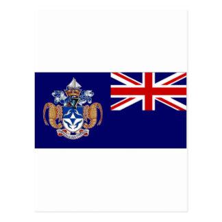 Tristan da Cunha Flag alt Postcard