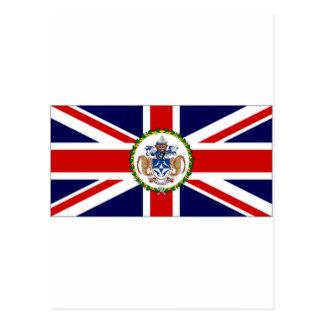 Tristan da Cunha Flag alternate Postcard