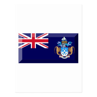 Tristan da Cunha Flag Jewel Postcard