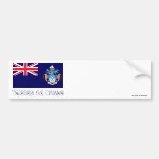 Tristan da Cunha Flag with Name Bumper Sticker