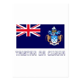Tristan da Cunha Flag with Name Postcard