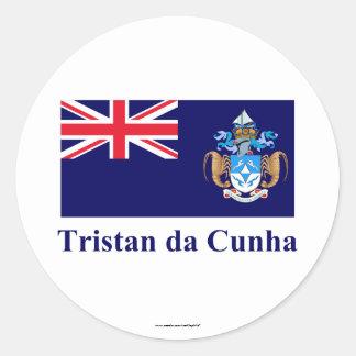 Tristan da Cunha Flag with Name Sticker