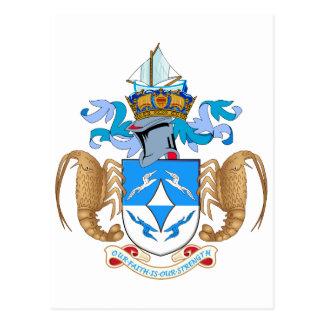 Tristan da Cunha Official Coat Of Arms Heraldry Postcard
