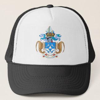 Tristan da Cunha Official Coat Of Arms Heraldry Trucker Hat