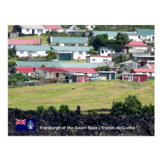 Tristan da Cunha Postcard. Real Photo of Edinburgh