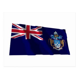Tristan da Cunha Waving Flag Postcard