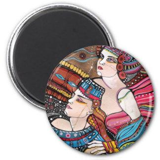 Tristan e Isolda - una historia de amor Imán Redondo 5 Cm