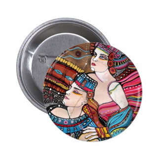 Tristan e Isolda - una historia de amor Pin Redondo De 2 Pulgadas